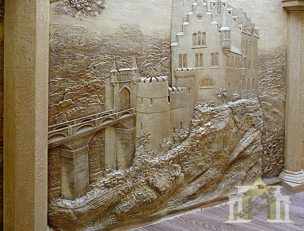Рельефные картины из штукатурки